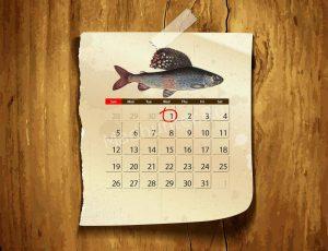 Календарь клёва Хариуса