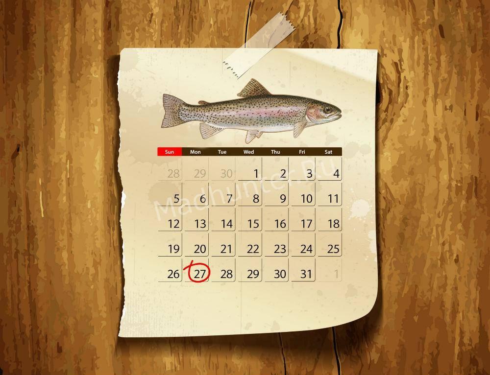 Календарь клёва Форели