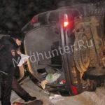 Браконьерам не удалось уйти от правосудия во время погони грузовик с охотниками перевернулся-min