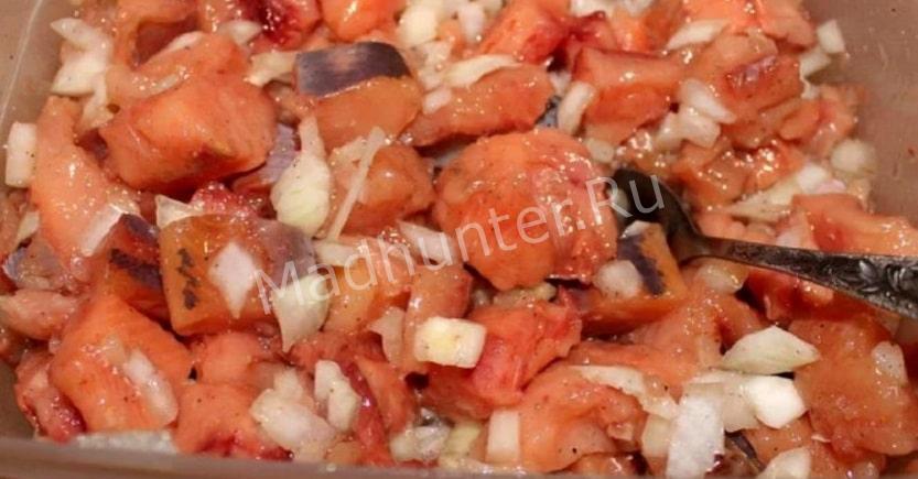 Маринованный салат из гольца – «Пятиминутка»-min