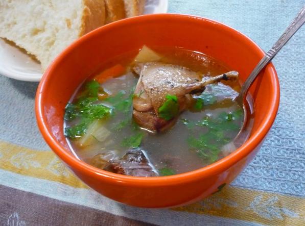 Охотничий глухариный суп