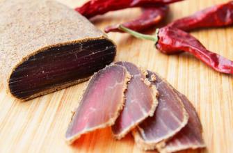 Деликатес из мяса лани