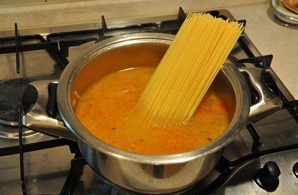 Домашний суп из гаршнепа с пастой