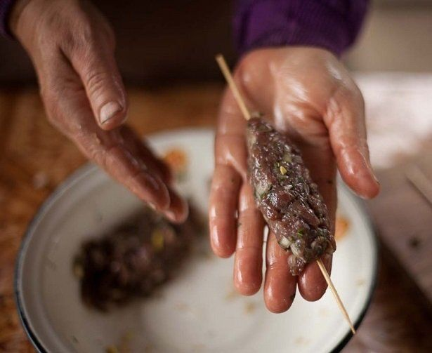 Люля-кебаб из мяса лося