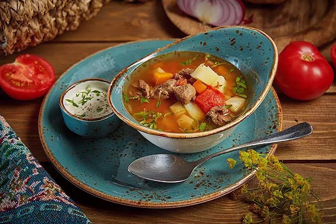 Северный суп из мяса лани