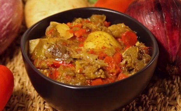 Тушеная казарка с овощами по-домашнему