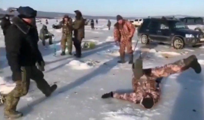 Рыбаки, вместо рыбалки, танцевали на льду брейк-данс