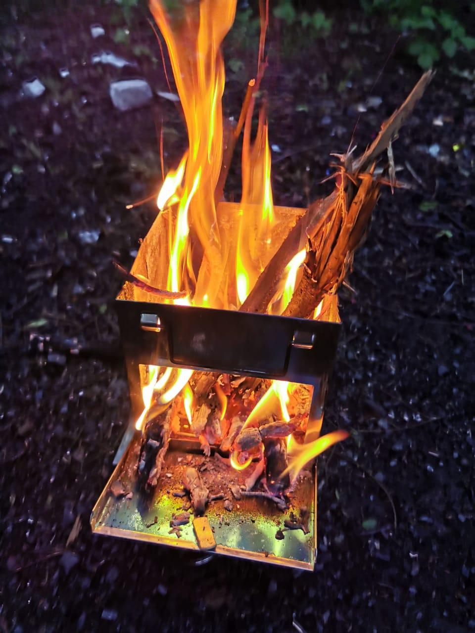Складная мини-печь для барбекю из нержавеющей стали фото
